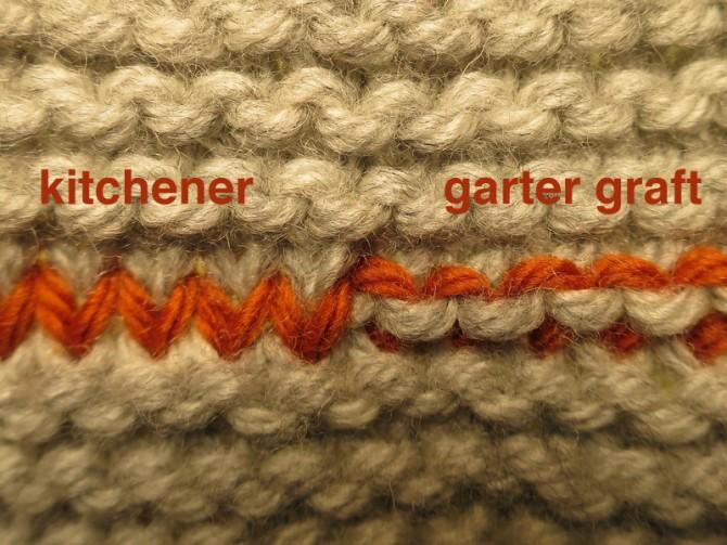 Knitting Kitchener Stitch Garter : Knitta make